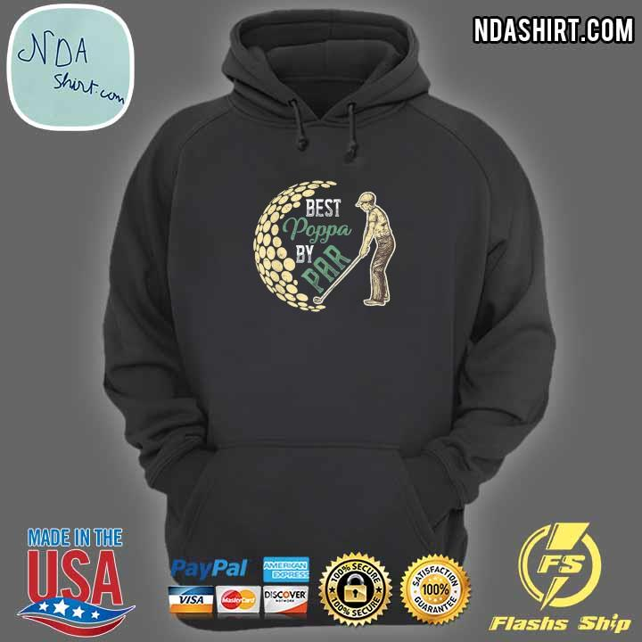 Best poppa by par father's day golf golfing classic hoodie
