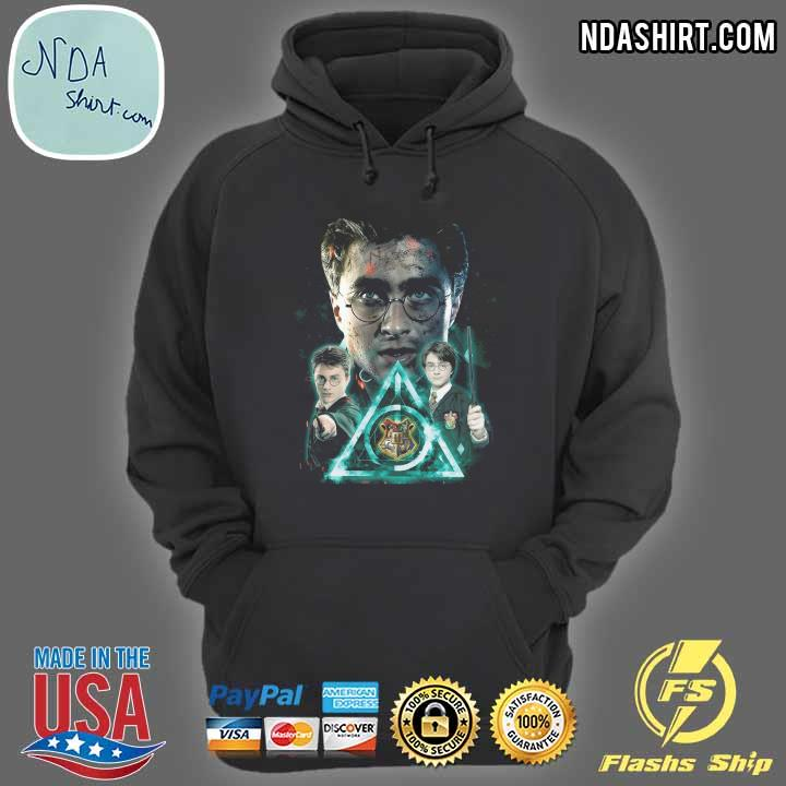 Harry Potter And The Deathly Hallows Symbol Blue Effect Shirt hoodie